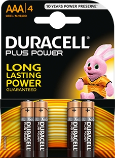 <div>PILA ALCALINA DURACELL AAA LR-03 PLUS POWER</div>