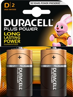 <div>PILA ALCALINA DURACELL LR20 PLUS POWER</div>