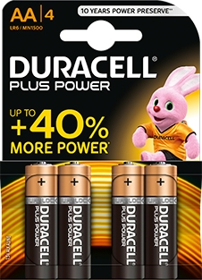 <div>PILA ALCALINA DURACELL AA PLUS POWER LR06</div>